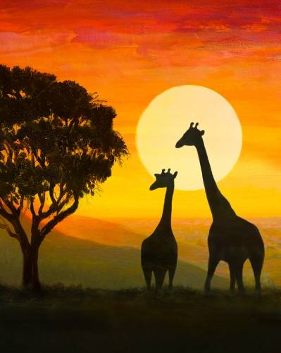 A Safari Wild paint nite project by Yaymaker