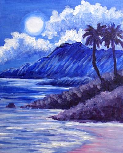 A Paradise by Moonlight paint nite project by Yaymaker