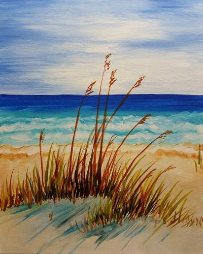 A Peaceful Beach Afternoon paint nite project by Yaymaker