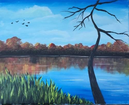 A Snake Pond paint nite project by Yaymaker