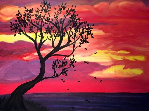 A Amaranth Autumn Sunset paint nite project by Yaymaker