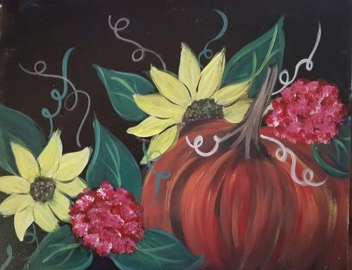 A Fall Garden paint nite project by Yaymaker
