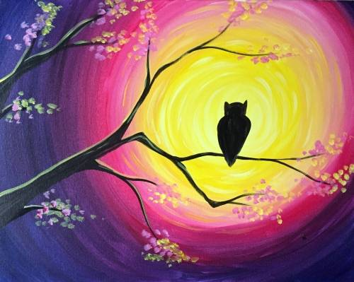 A Moonlit Owl II paint nite project by Yaymaker