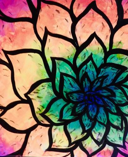 A Neon Flower Petals  Black Light paint nite project by Yaymaker