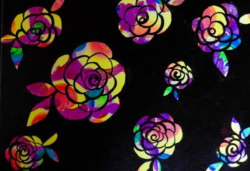 A Neon Flower  Black Light paint nite project by Yaymaker