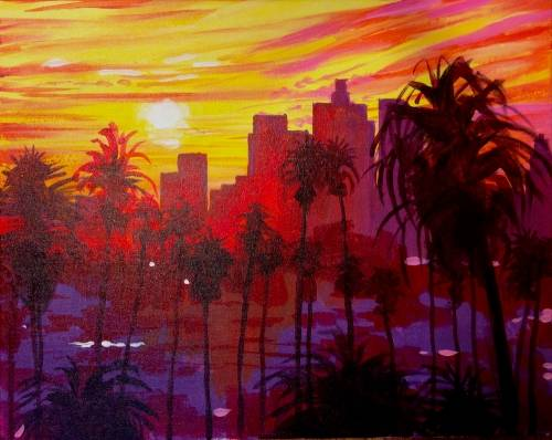 A I Love LA paint nite project by Yaymaker
