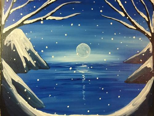 A Winter Lake paint nite project by Yaymaker
