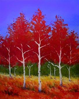 A Red Birches paint nite project by Yaymaker