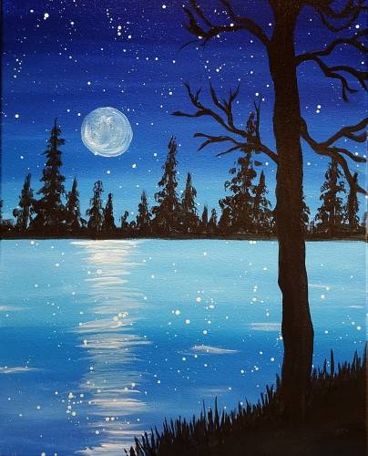 A Moonlight Lake paint nite project by Yaymaker