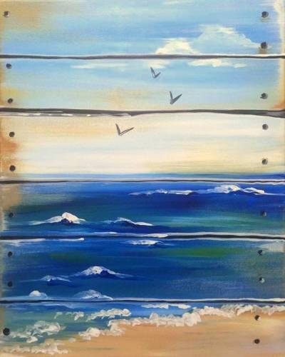 A The Ocean is Crate paint nite project by Yaymaker