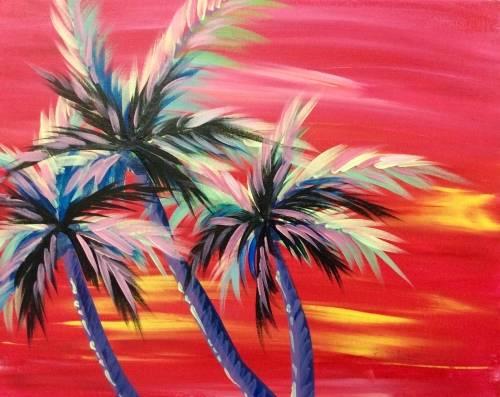 A Hot Hawaiian Nites paint nite project by Yaymaker