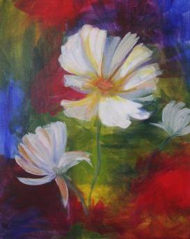 A White Flower 1 paint nite project by Yaymaker