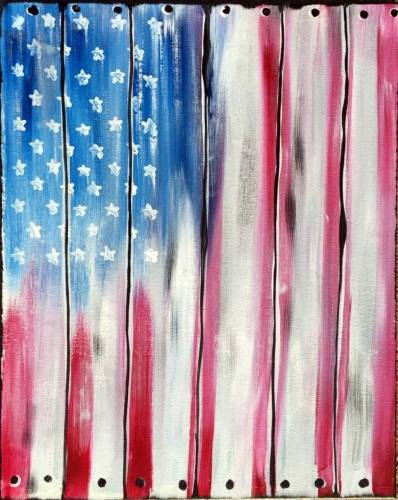 A America is Crate paint nite project by Yaymaker