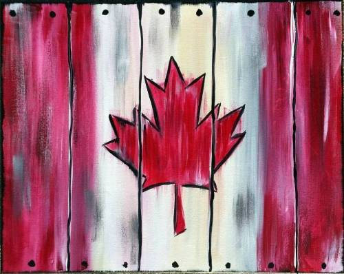 A Canada is Crate paint nite project by Yaymaker