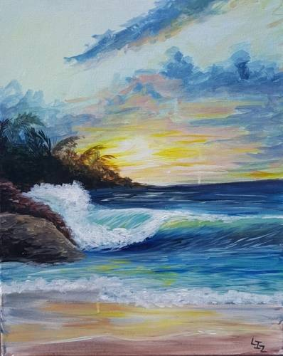 A Coast Land paint nite project by Yaymaker