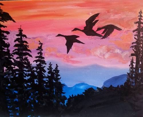 A A Canadian Journey paint nite project by Yaymaker