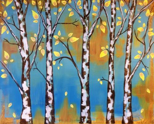 A Illuminated Birch paint nite project by Yaymaker