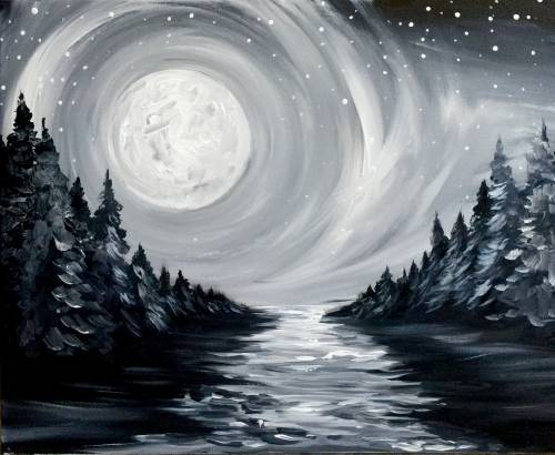 A The River at Midnight paint nite project by Yaymaker