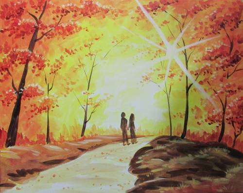 A Fall Back In Love paint nite project by Yaymaker