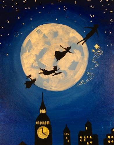 A Fly To Neverland paint nite project by Yaymaker