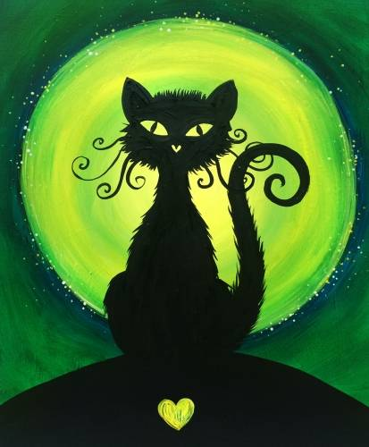 A Lovely Black Cat paint nite project by Yaymaker