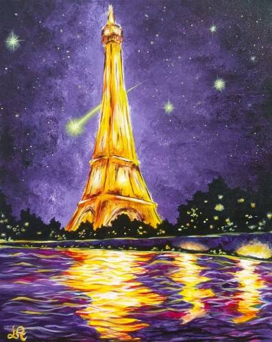 A Glowing Paris paint nite project by Yaymaker