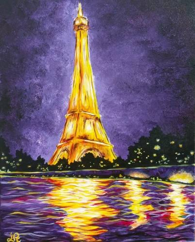A Glowing Paris II paint nite project by Yaymaker