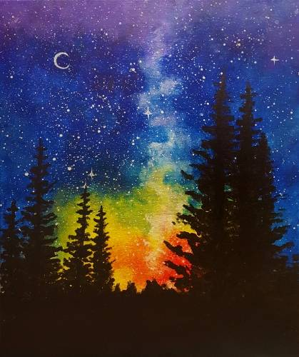 A A Night at Rainbow Pines paint nite project by Yaymaker