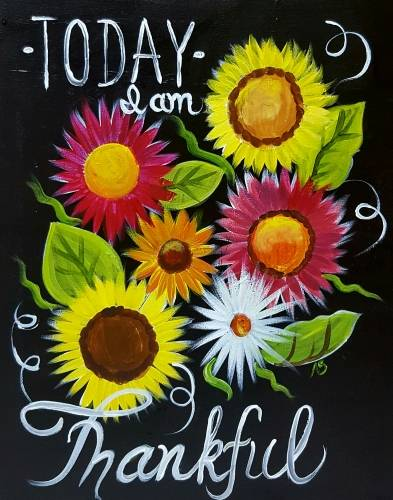 A Sunflower Inspiration paint nite project by Yaymaker
