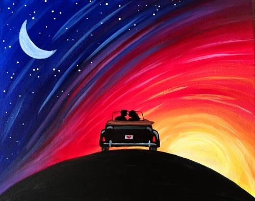 A License to Love paint nite project by Yaymaker