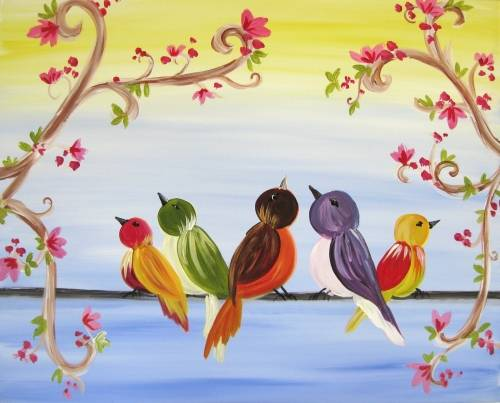 A Rainbow Chorus paint nite project by Yaymaker
