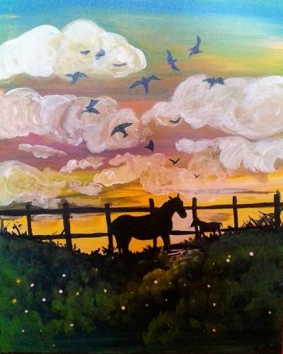A New Mother on the Horizon paint nite project by Yaymaker