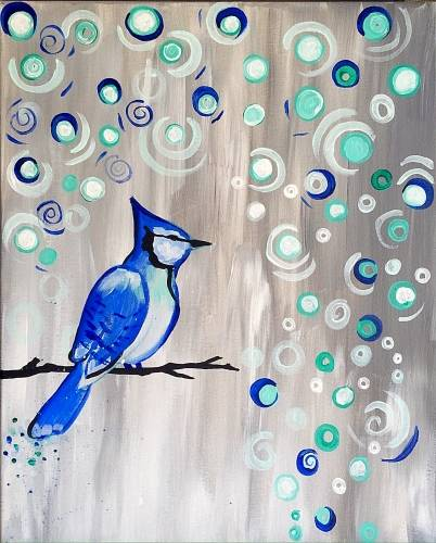 A Baby Its Cold Outside paint nite project by Yaymaker
