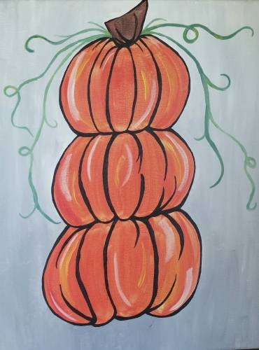 A Pumpkin Stack II paint nite project by Yaymaker