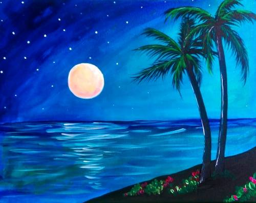 A Tropical Nights paint nite project by Yaymaker