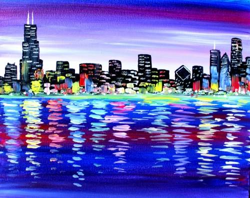 A My Chicago paint nite project by Yaymaker
