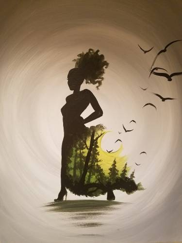 A Lady Nature paint nite project by Yaymaker