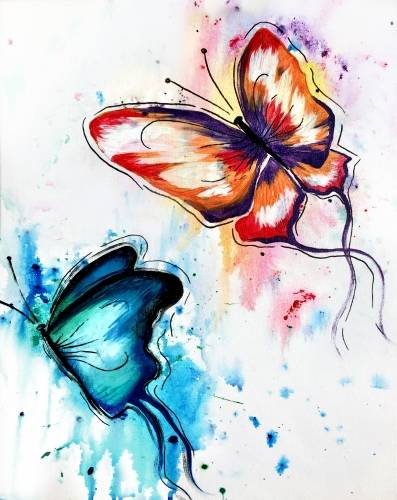 A Butterfly Splash paint nite project by Yaymaker