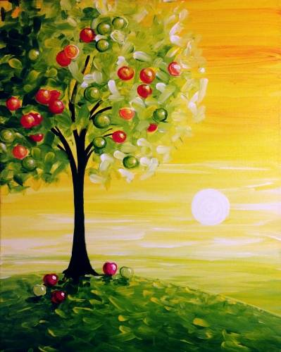 A Apple Sunrise paint nite project by Yaymaker