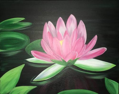 A Peaceful Lotus paint nite project by Yaymaker