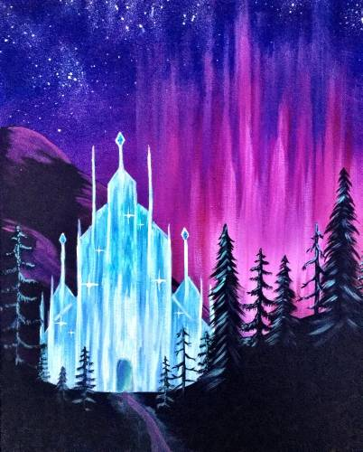 A Frosted Lights paint nite project by Yaymaker