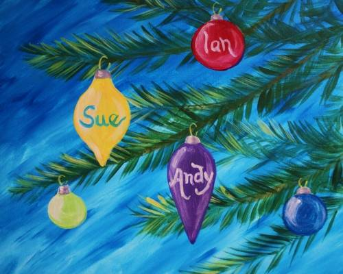 A Family of Ornaments paint nite project by Yaymaker