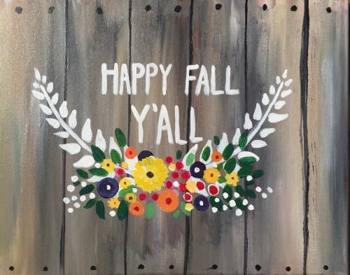 A Fall is Crate paint nite project by Yaymaker
