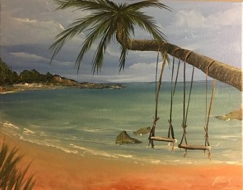 A Swings For Two paint nite project by Yaymaker