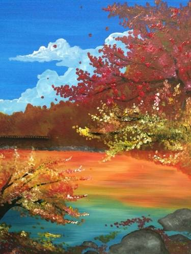 A Views in Autumn paint nite project by Yaymaker