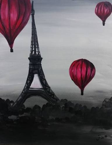 A PARIS AND MORE paint nite project by Yaymaker