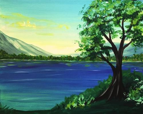 A To the Countryside paint nite project by Yaymaker