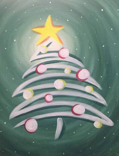 A Whimsical Holiday Wintergreen paint nite project by Yaymaker