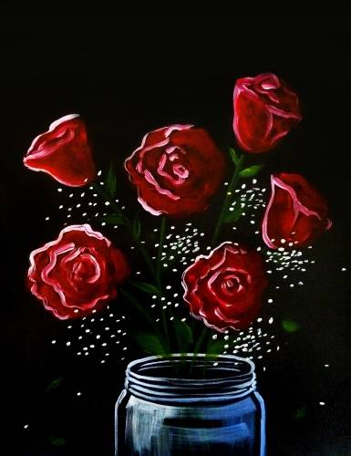A Rose Bouquet paint nite project by Yaymaker
