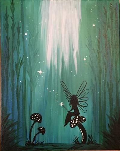 A Mystical Forest Fairy paint nite project by Yaymaker